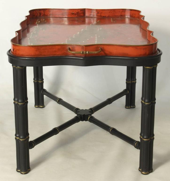 Italian Tole Tray Cocktail Table At 1stdibs