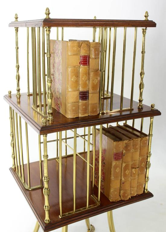 20th Century Edwardian Revolving Bookstand For Sale