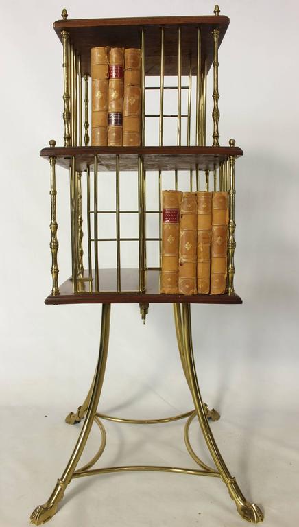 Edwardian Revolving Bookstand In Good Condition For Sale In Kilmarnock, VA