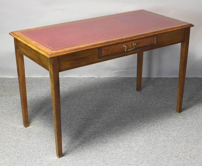 Edwardian Leather Top Writing Table 2