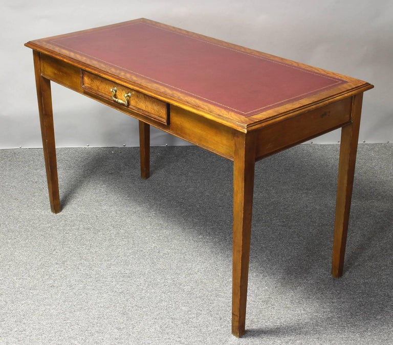 Edwardian Leather Top Writing Table 4