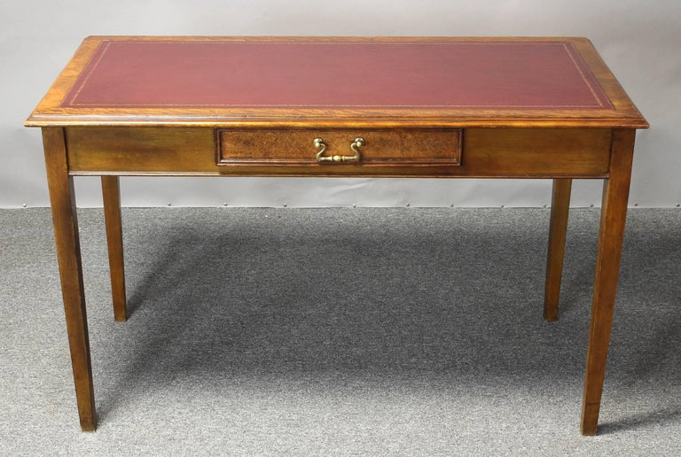 Edwardian Leather Top Writing Table 7