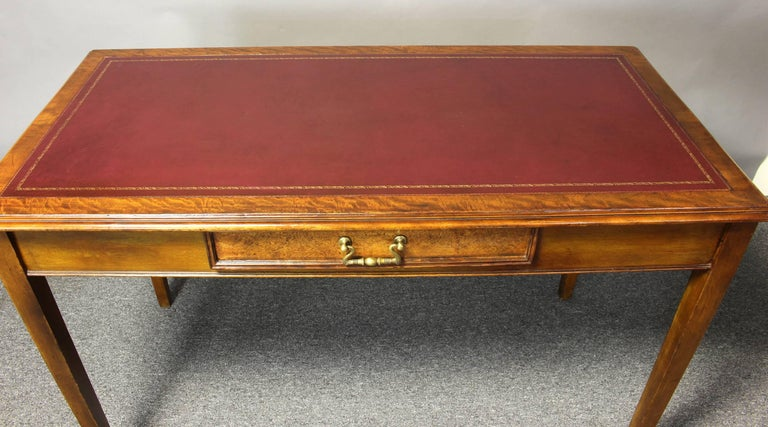 Edwardian Leather Top Writing Table 8