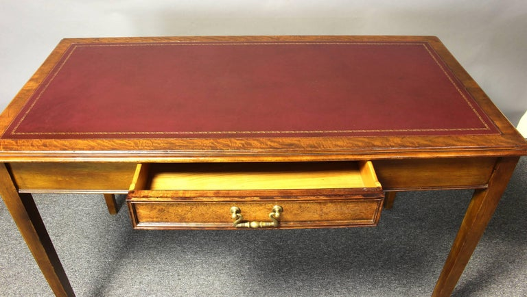 Edwardian Leather Top Writing Table 9
