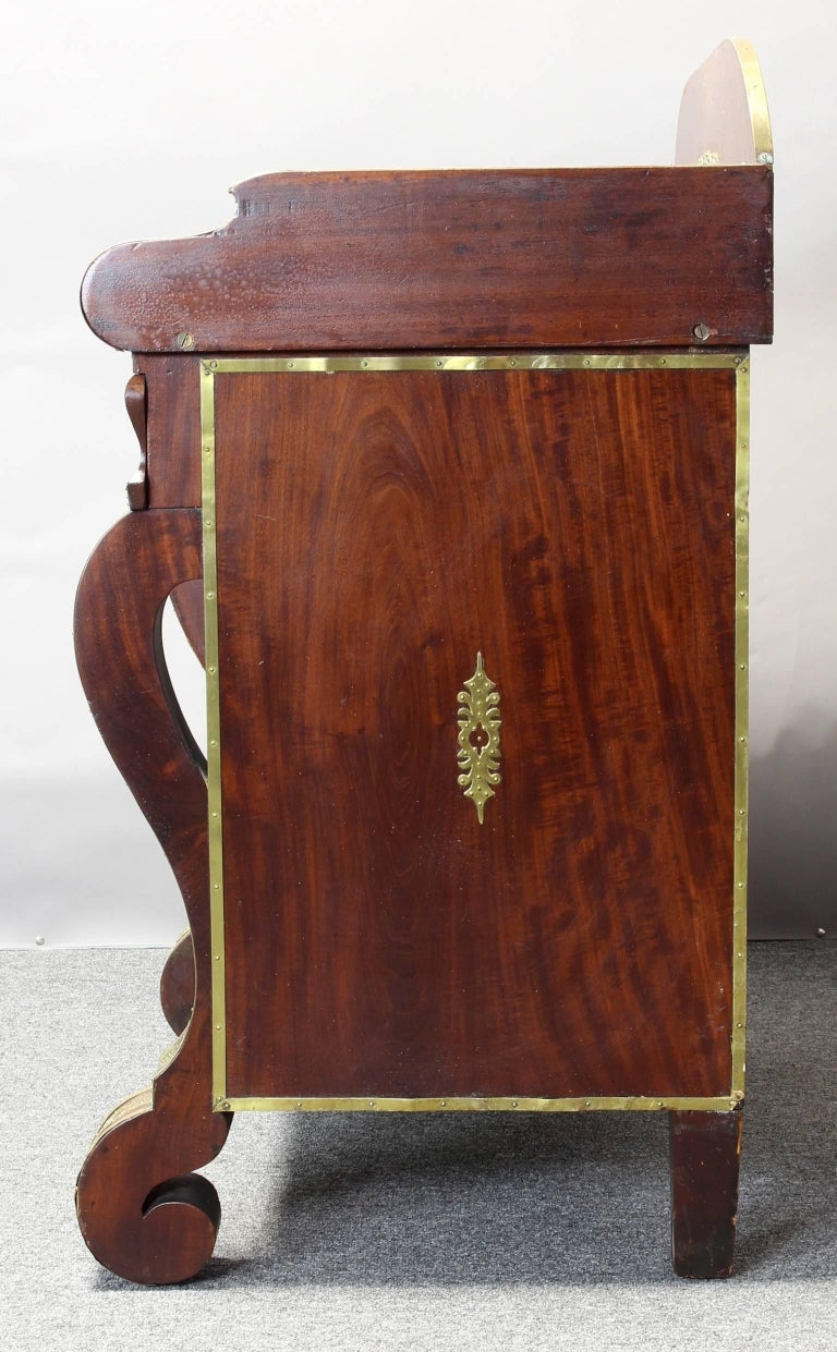 Mid-19th Century Mahogany and Brass Side Cabinet or Bar 6
