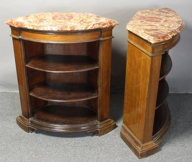 George III Pair of Open Bookcase Cabinets For Sale