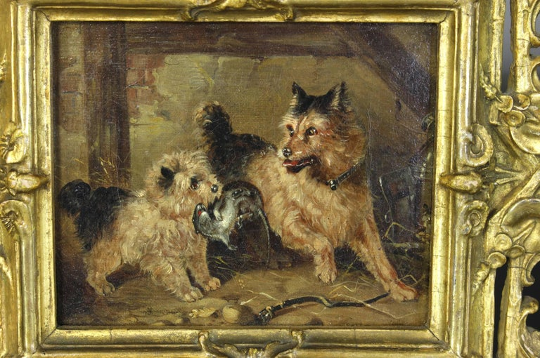 19th Century Oil on Canvas Dog Painting 2