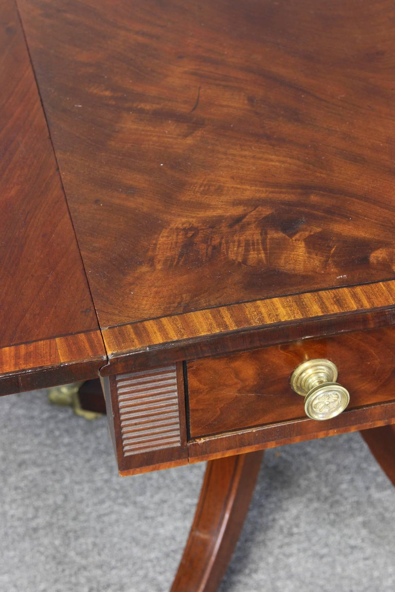 Regency Mahogany Pembroke Table 7