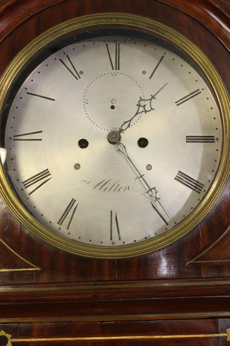 Irish Regency Eight Day Tall Case Clock 7