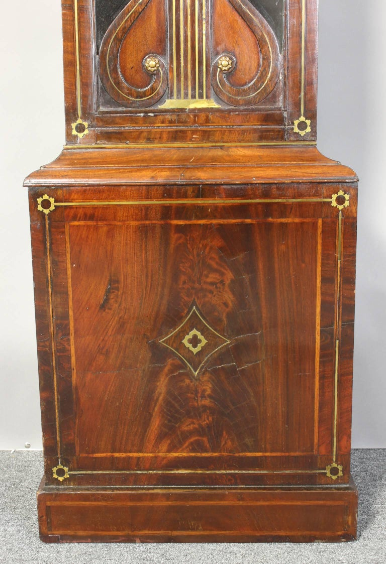 Irish Regency Eight Day Tall Case Clock 10