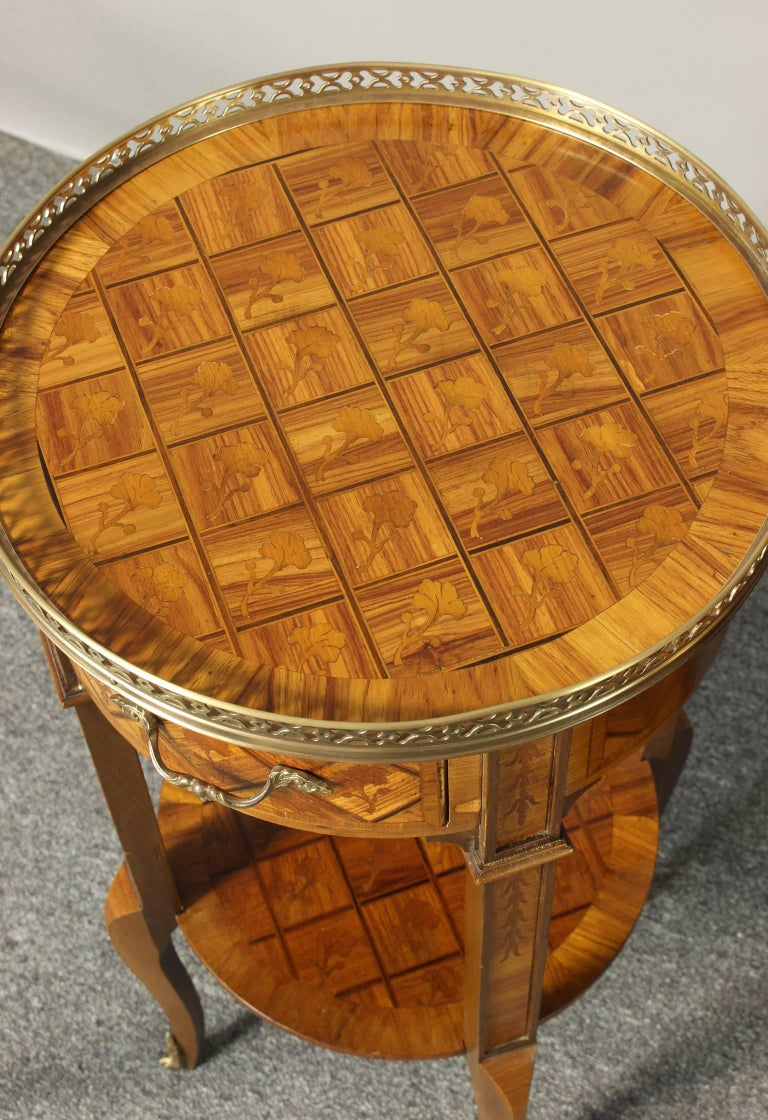 Pair of French Marquetry Side Tables 7