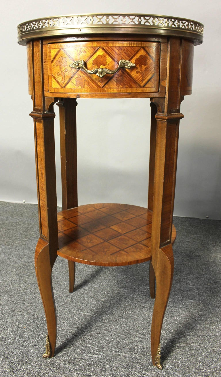 Pair of french marquetry side tables for sale at stdibs