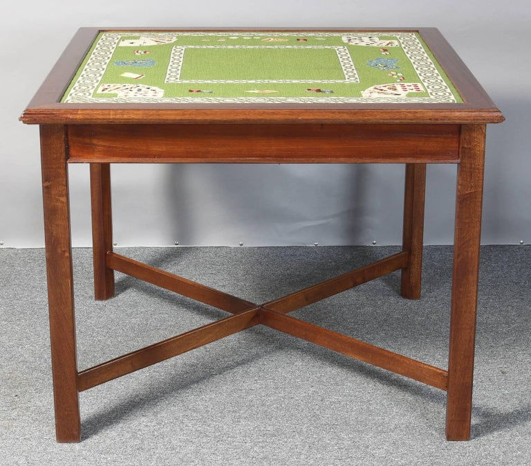 Needlepoint Top Card Table 2