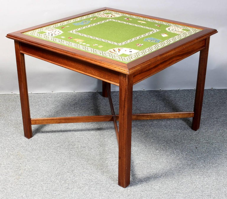 Needlepoint Top Card Table 7