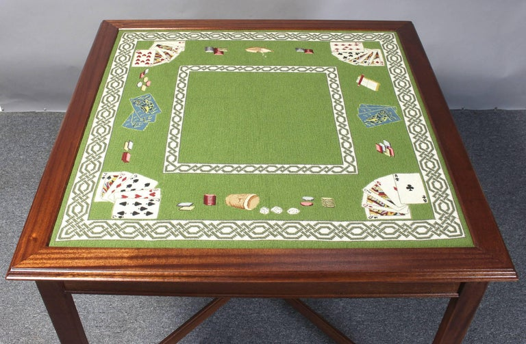 Needlepoint Top Card Table 4