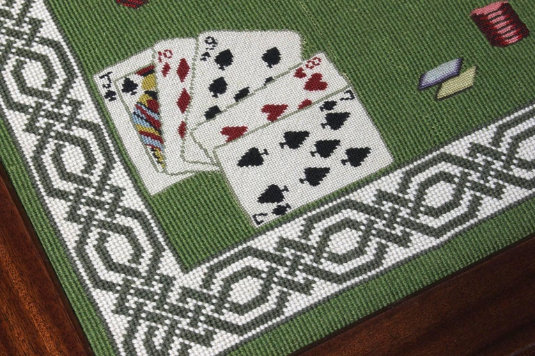 Needlepoint Top Card Table 6