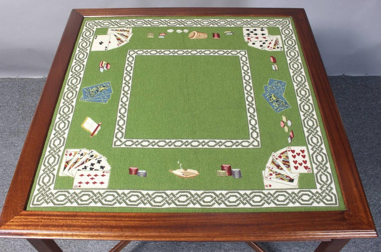 Needlepoint Top Card Table 3