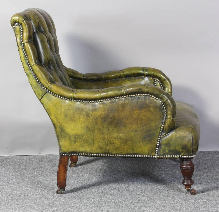 English Leather Library Chair 3