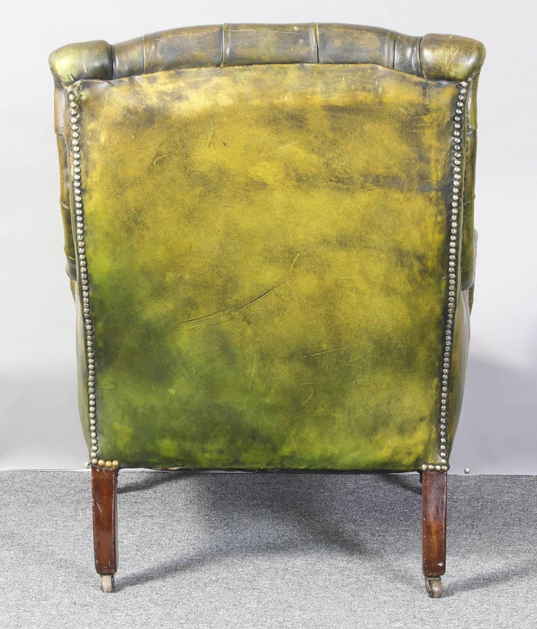 English Leather Library Chair 4