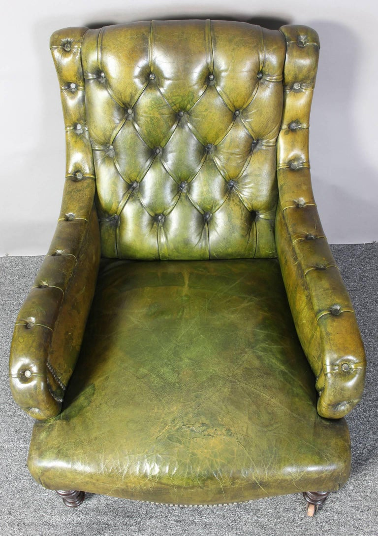 English Leather Library Chair 6