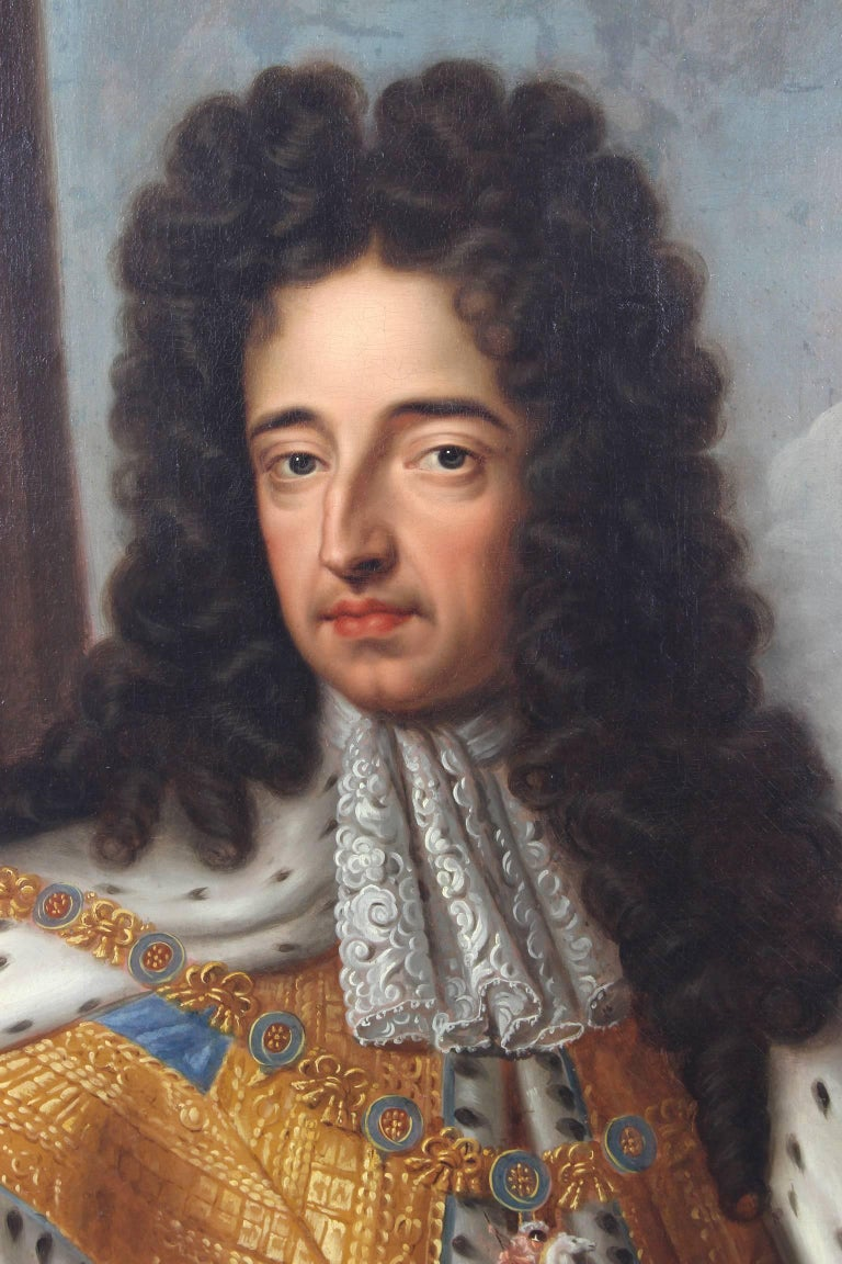 English Oil on Canvas Portrait of King Charles II For Sale