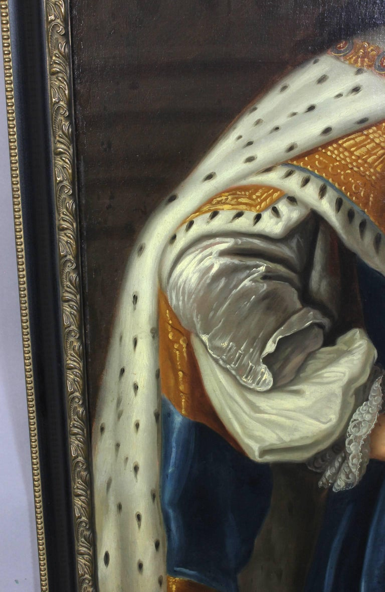 Oil on Canvas Portrait of King Charles II For Sale 1
