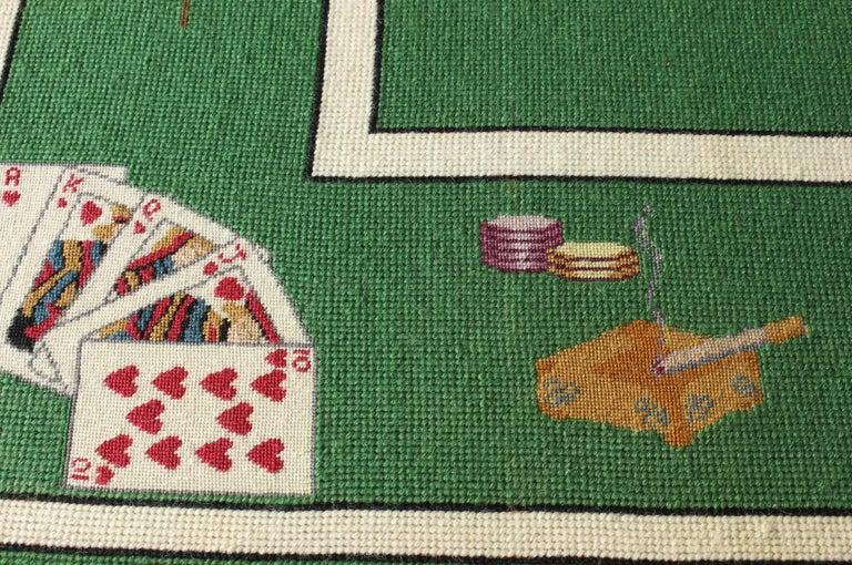 Mid-20th Century Needlepoint Card Table 4