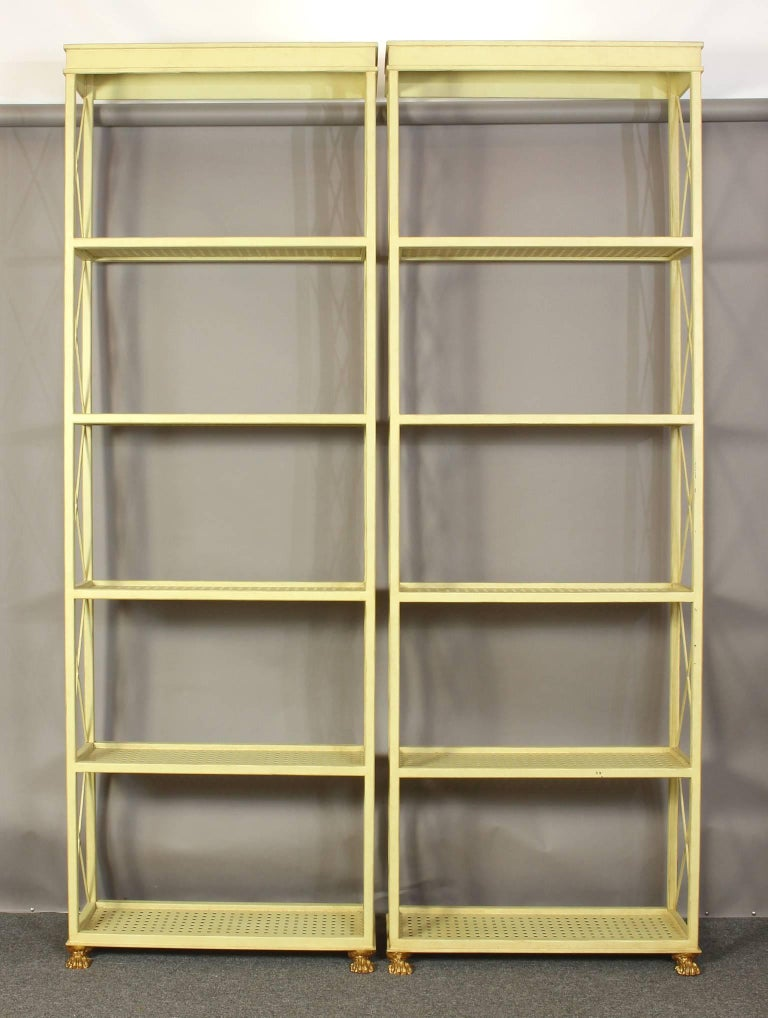 Directoire Pair of Custom Étagère Bookcases For Sale