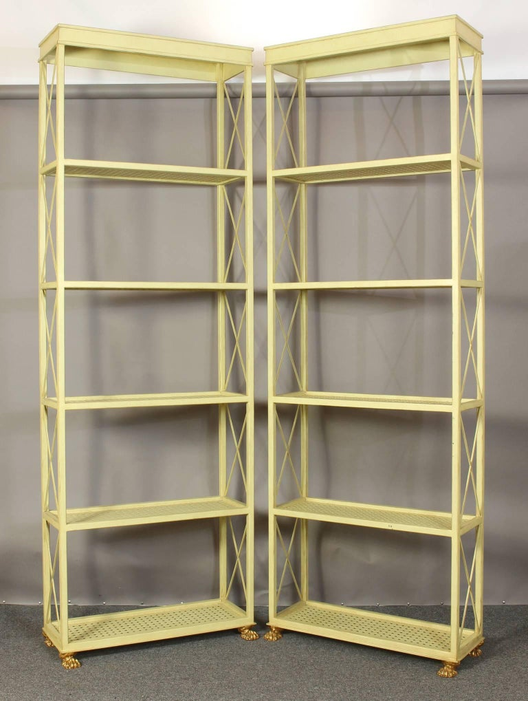 Pair of Custom Étagère Bookcases In Excellent Condition For Sale In Kilmarnock, VA