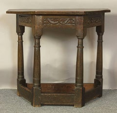18th Century English Oak Console Table