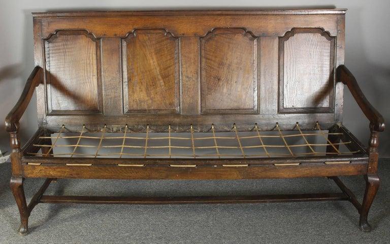 18th Century English Oak Settle For Sale 1