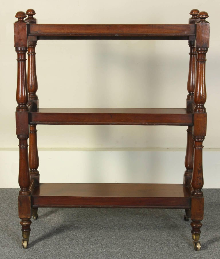 19th Century English Mahogany Trolly or Server For Sale 1
