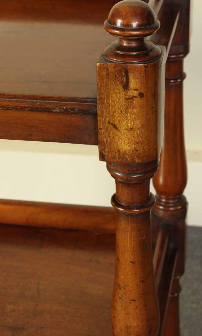 19th Century English Mahogany Trolly or Server For Sale 5