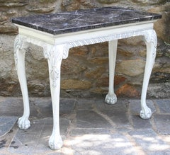George III Style Marble Topped Console Table