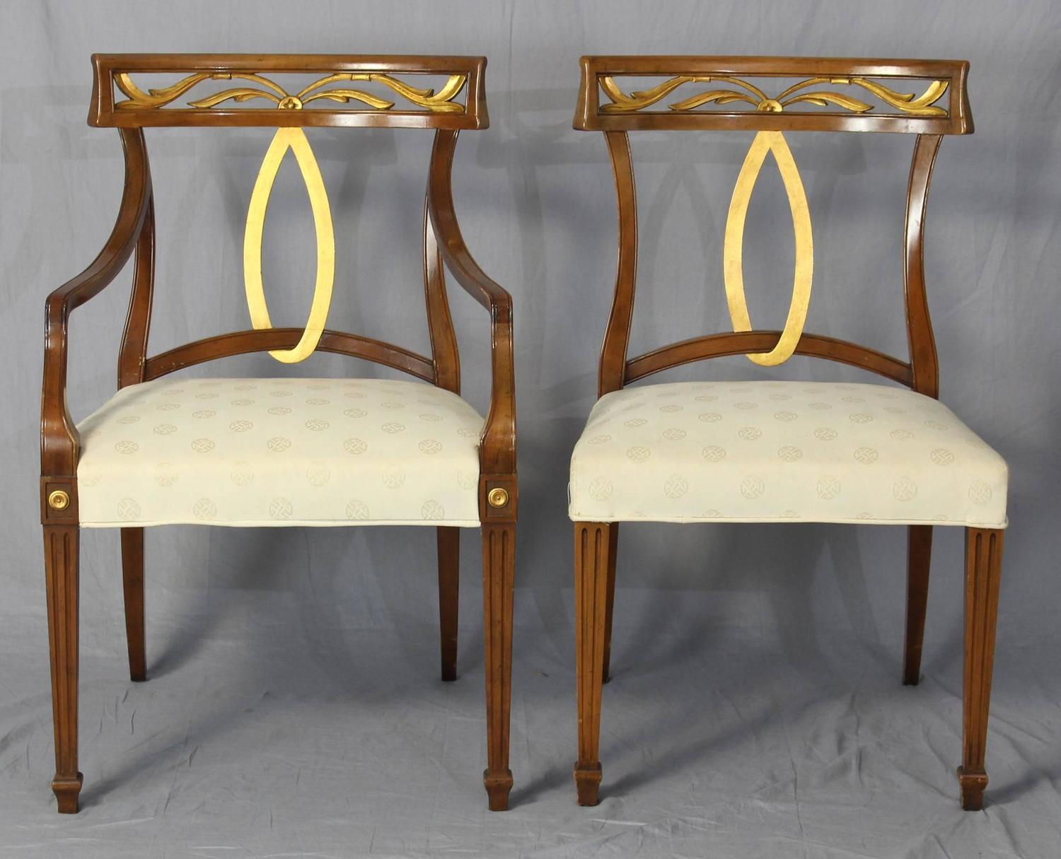 of six midcentury italian neoclassical style dining chairs at 1stdibs