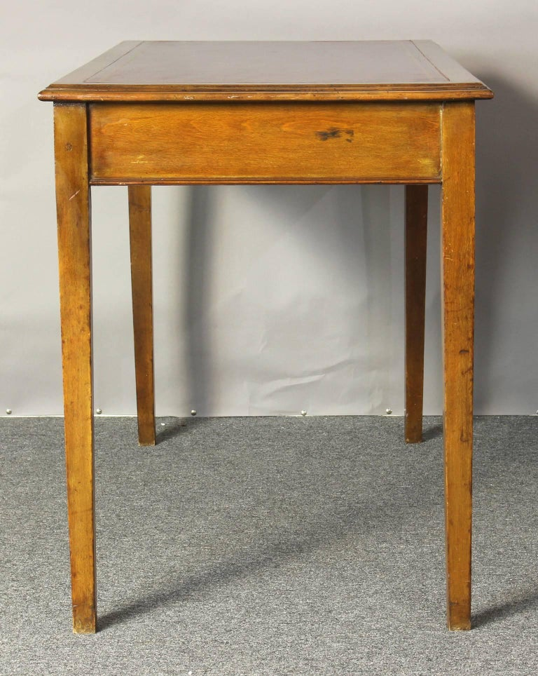 Edwardian Leather Top Writing Table 5