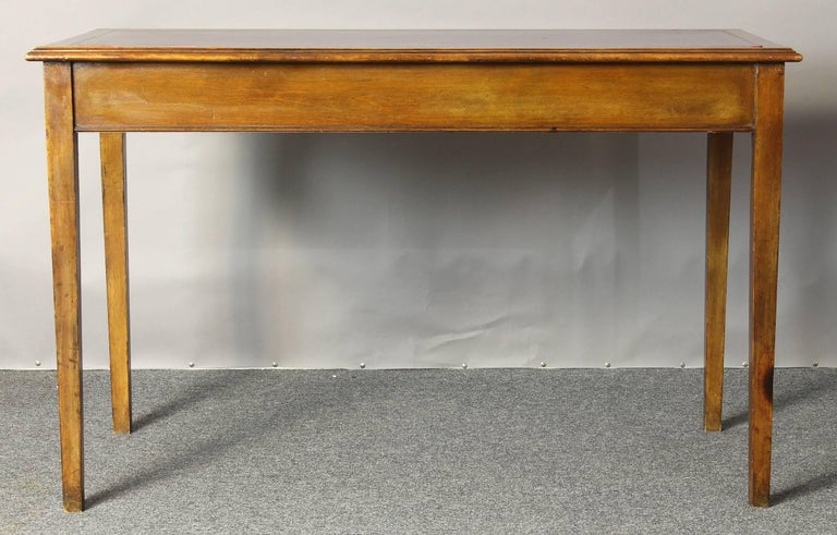 Edwardian Leather Top Writing Table 6