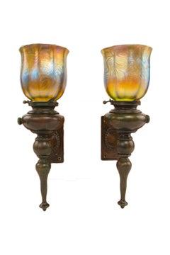 Pair of Art Nouveau Sconces by, Tiffany Studios