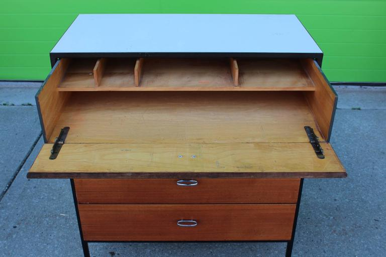Metal George Nelson Secretary and Chest of Drawers for Herman Miller For Sale