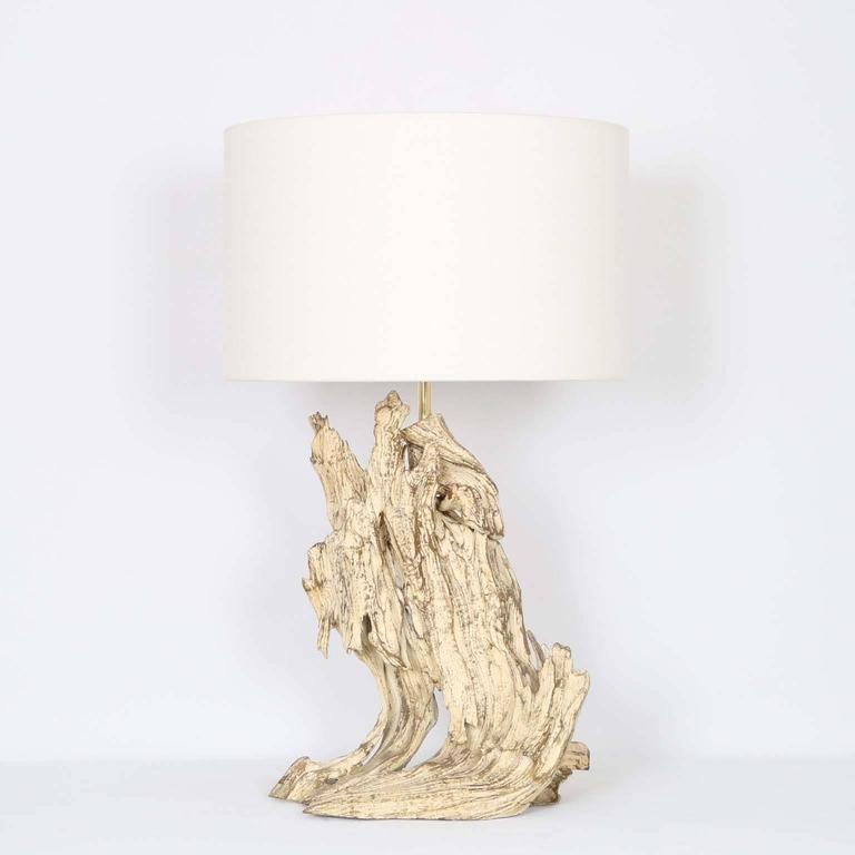restored mid century modern driftwood lamp for sale at 1stdibs. Black Bedroom Furniture Sets. Home Design Ideas