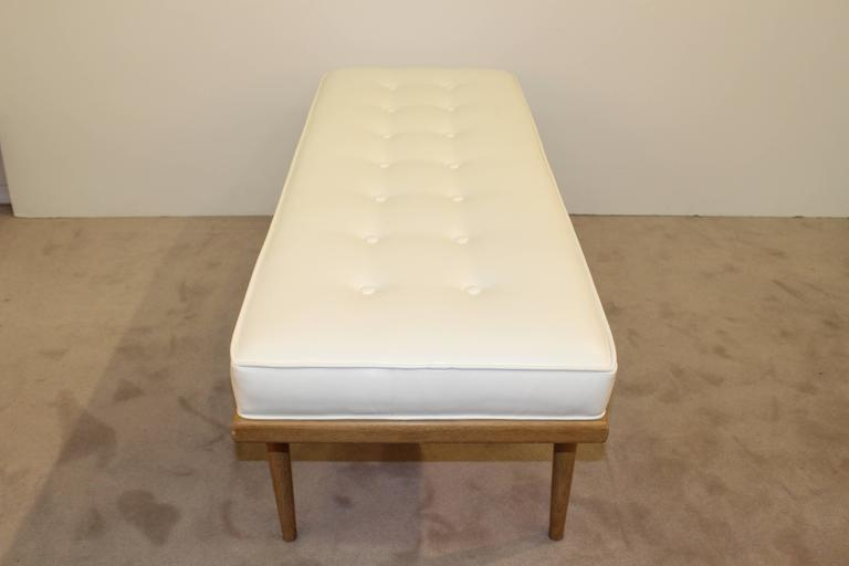 Mid-Century Robsjohn-Gibbings Bench with Leatherette Upholstery 3