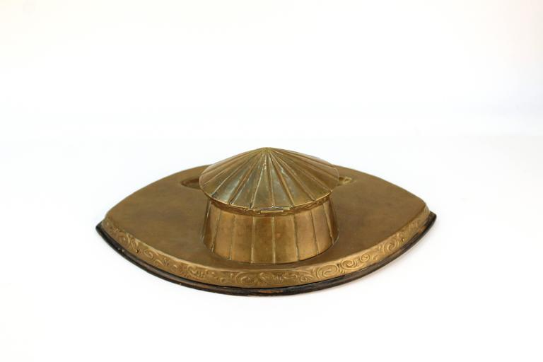 Arts and Crafts Arts & Crafts Movement Brass Inkwell For Sale