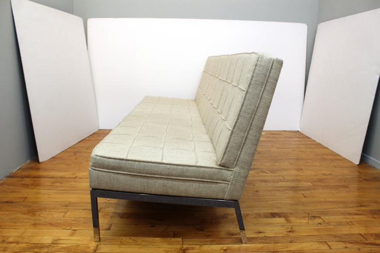 Mid-Century Modern Florence Knoll for Knoll Three-Seat Angular Sofa For Sale