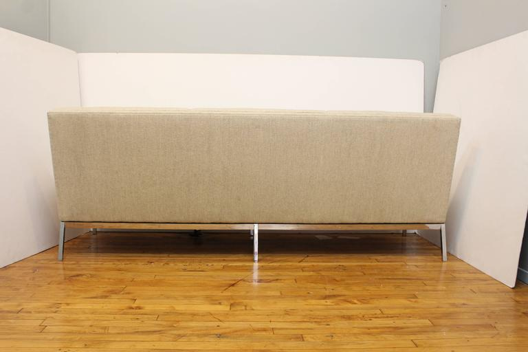 American Florence Knoll for Knoll Three-Seat Angular Sofa For Sale