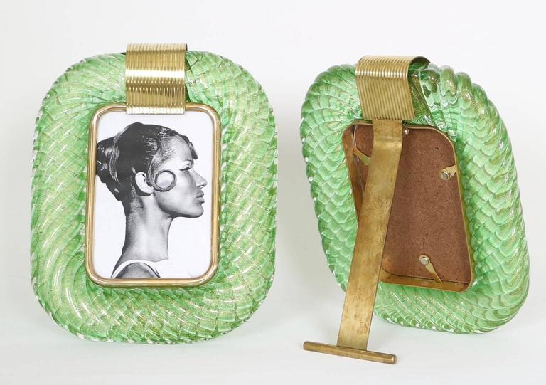 Pair of Venini Torciglione Glass Frames 3