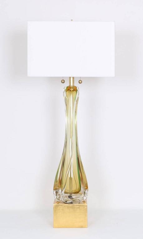 Murano Sommerso Glass Lamp by Seguso 2