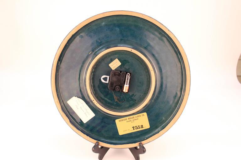 Rimini Blue Ceramic Clock by Bitossi 4