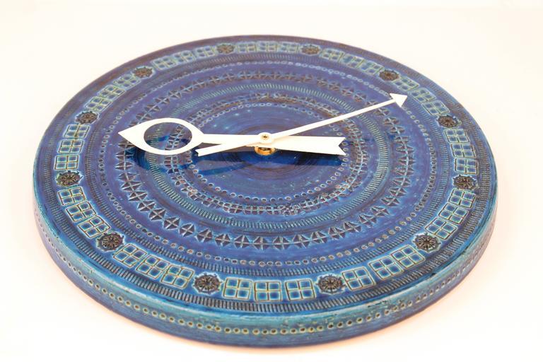 Rimini Blue Ceramic Clock by Bitossi 3
