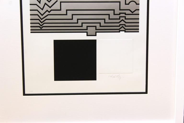 "Victor Vasarely Serigraph, "" Trompette"" 3"