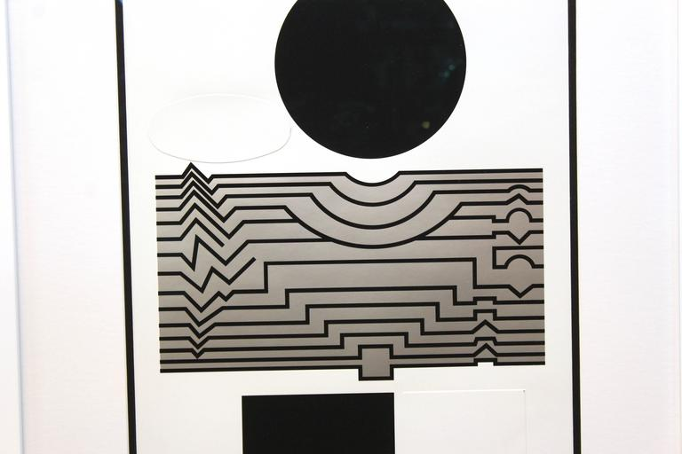 "Victor Vasarely Serigraph, "" Trompette"" 2"